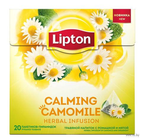 """Фиточай """"Lipton. С ромашкой и мятой"""" (20 пакетиков) — фото, картинка"""