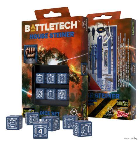 "Набор кубиков D6 ""Battletech. House Steiner"" (6 шт.) — фото, картинка"
