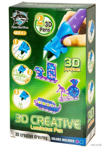 """3D ручка детская """"Rich Fish Toys"""" (фиолетовая+синяя; люменисцентные) — фото, картинка"""