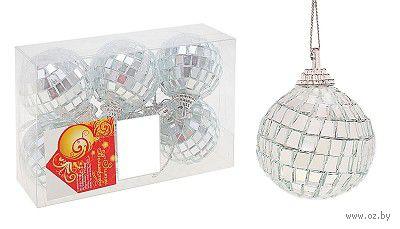 Набор шаров зеркальных декоративных (6 шт; 4 см)
