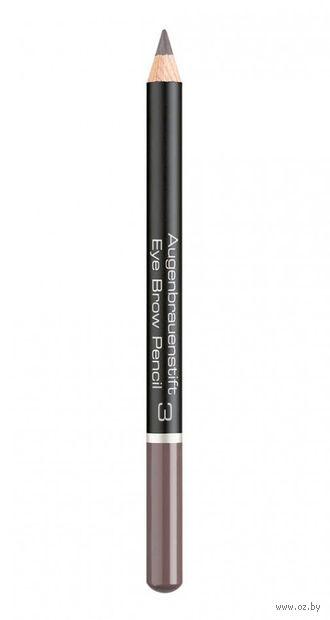 """Карандаш для бровей """"Eye Brow Pencil"""" (тон: 3, soft brown) — фото, картинка"""