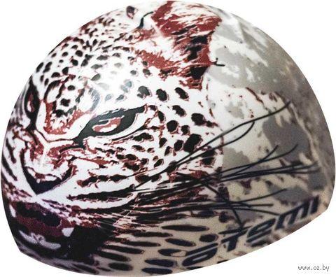 Шапочка для плавания (белая; леопард; арт. PSC425) — фото, картинка