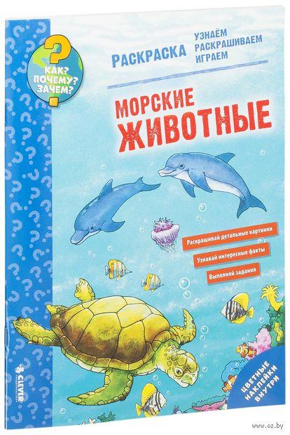 Морские животные. Раскраска — фото, картинка