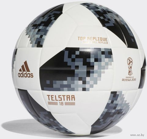 """Мяч футбольный """"WC2018 Telstar Top Replique"""" №5 (белый) — фото, картинка"""
