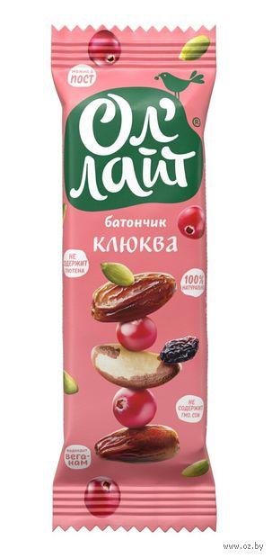"""Батончик фруктовый """"Ол'Лайт. Клюква"""" (30 г) — фото, картинка"""
