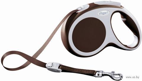 """Поводок-рулетка для собак """"Vario"""" (коричневый, размер L, до 60 кг/5 м, арт. 12087)"""