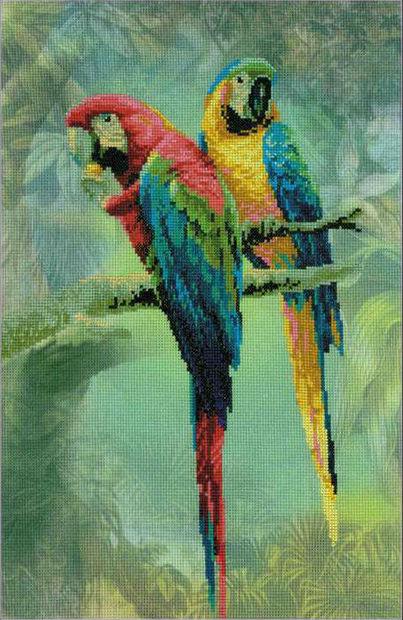 "Вышивка крестом ""Попугаи Ара"" (арт. РТ-0013)"