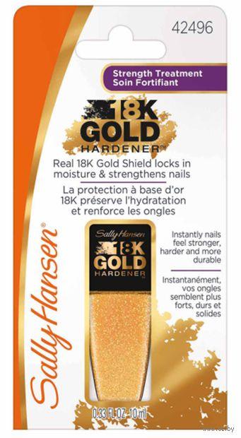 """Средство для укрепления ногтей """"18K gold hardener"""" (10 мл) — фото, картинка"""