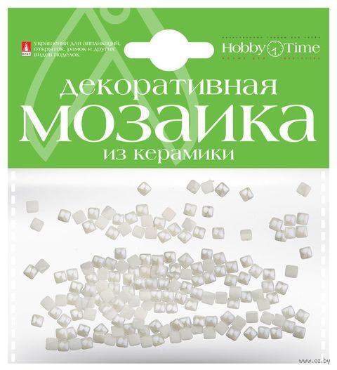 Мозаика декоративная из керамики №1 (4х4 мм; 200 шт.; белый) — фото, картинка