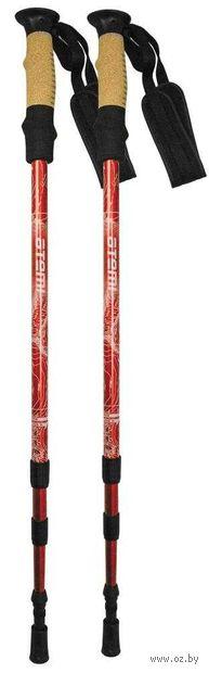 Телескопические треккинговые палки (р. 65-135 см; арт. ATP-05 red) — фото, картинка