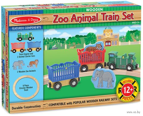 """Игровой набор """"Поезд с дикими животными"""" (арт. 643) — фото, картинка"""