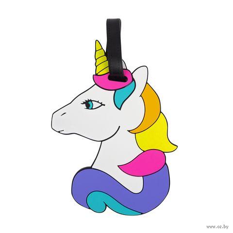 """Бирка на багаж """"Rainbow unicorn"""" — фото, картинка"""