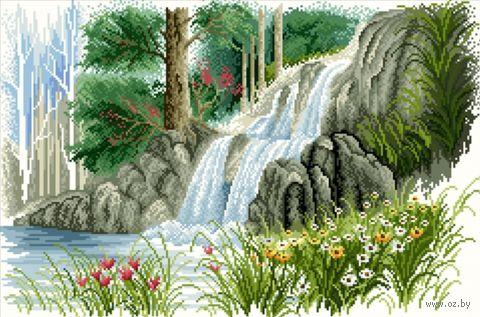 """Алмазная вышивка-мозаика """"Лесной ручей"""""""
