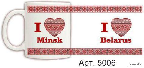 Кружка керамическая с белорусским орнаментом 330 мл. (арт. 5006)