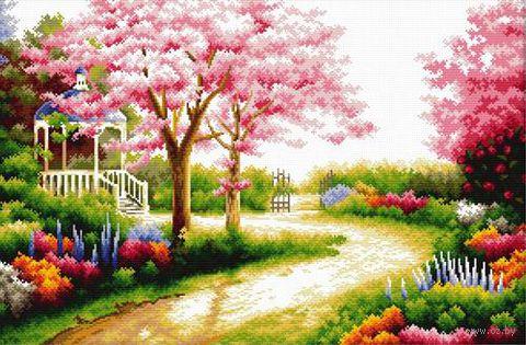 """Вышивка крестом """"Весенний сад"""""""
