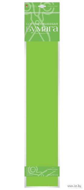 Бумага креповая (50х250 см; ярко-зеленая) — фото, картинка