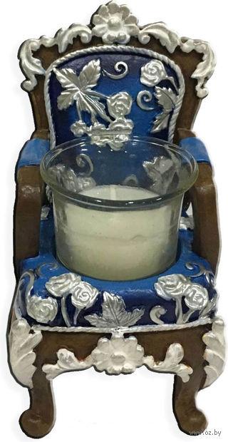 """Подсвечник """"Синий трон"""" (6,5х6х10 см; арт. 44563) — фото, картинка"""