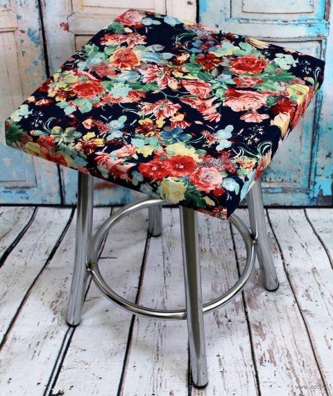 """Подушка на стул """"Cuadro Concept. Цветы на Синем"""" (33х33 см) — фото, картинка"""