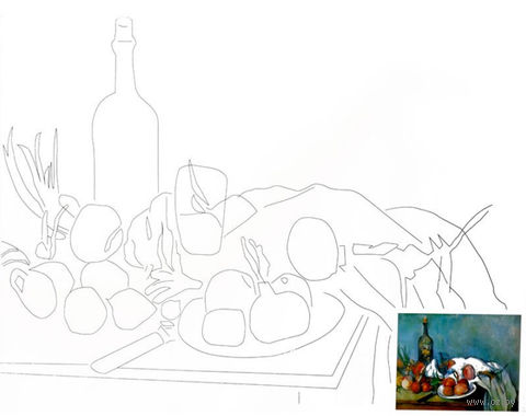 """Холст с контуром """"Натюрморт-2"""" — фото, картинка"""