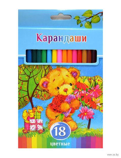 """Набор карандашей цветных """"Забавные пушистики"""" (18 цветов)"""