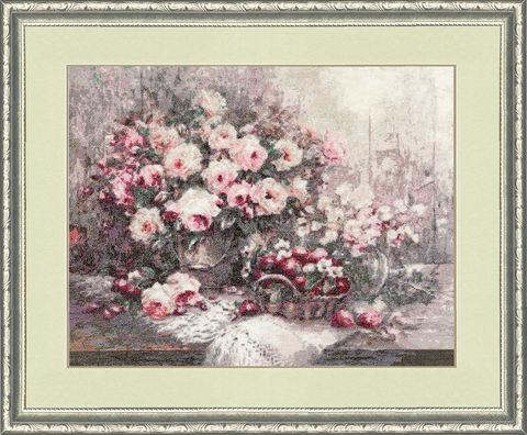 """Вышивка крестом """"Розовый Прованс"""" (307х396 мм) — фото, картинка"""