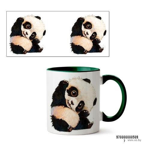 """Кружка """"Панда"""" (арт. 509, зеленая)"""