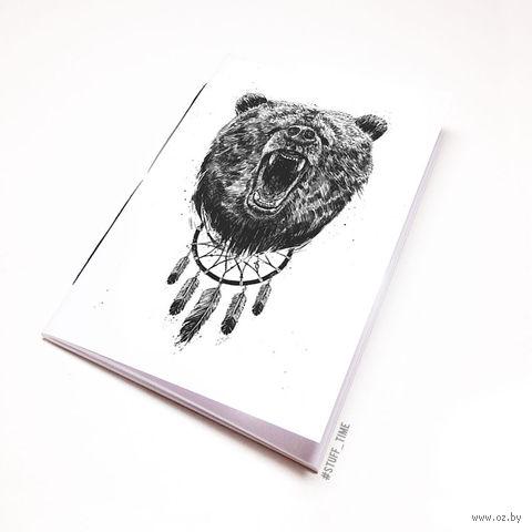 """Блокнот белый """"Медведь"""" А6 (944)"""