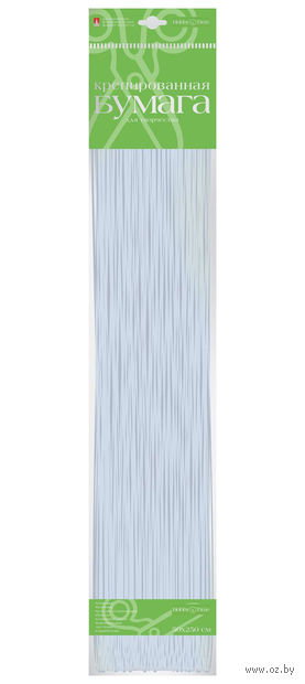 "Бумага креповая ""Металлизированная"" (50х250 см; серебро) — фото, картинка"