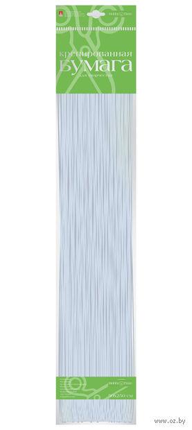 """Бумага креповая цветная """"Металлизированная"""" (50х250 см; серебро) — фото, картинка"""