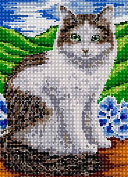 "Алмазная вышивка-мозаика ""Кошка"" (360х260 мм) — фото, картинка"
