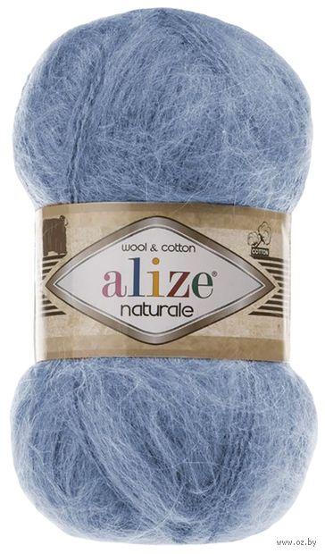 """Пряжа """"ALIZE. Naturale №549"""" (100 г; 230 м; голубой) — фото, картинка"""