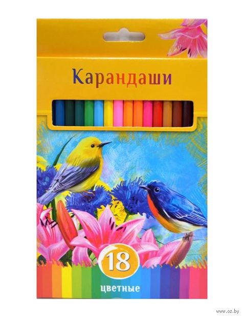 """Цветные карандаши """"Солнечный креатив"""" в картонной коробке (18 цветов)"""