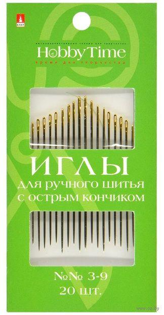 Иглы для шитья №3-9 (20 шт.; арт. 2-687/02) — фото, картинка