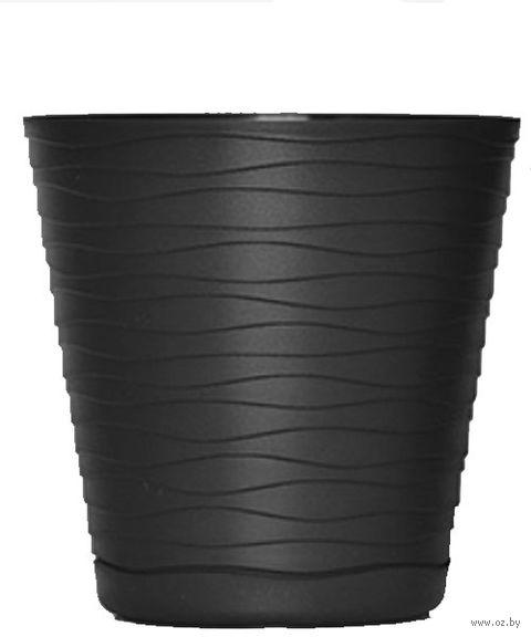 """Цветочный горшок """"Teди"""" (15 см; черный) — фото, картинка"""