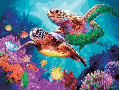 """Картина по номерам """"Черепахи"""" (400х500 мм) — фото, картинка"""