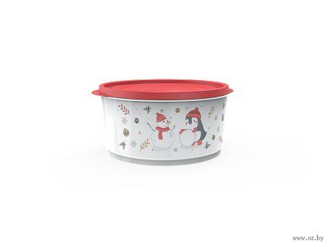 """Контейнер для хранения продуктов """"Christmas"""" (1,6 л; роза) — фото, картинка"""