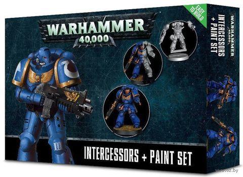 Warhammer 40.000. Space Marines. Intercessors+Paint Set (60-11-60) — фото, картинка