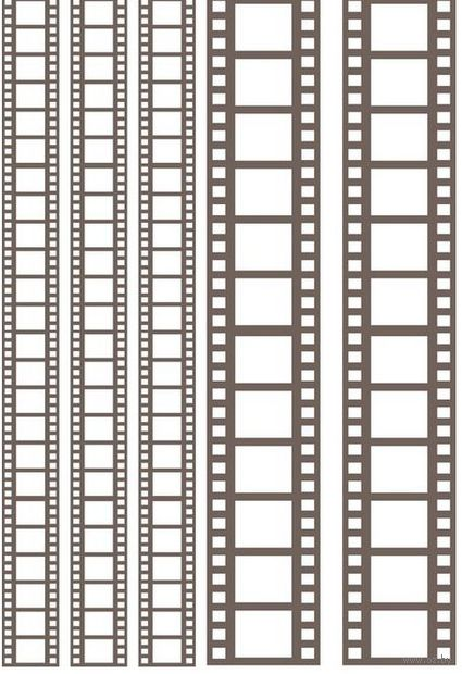 "Пленка-оверлей ""Кинопленка"" (210х300 мм; коричневый)"