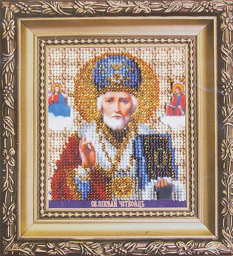 """Вышивка бисером """"Икона святителя Николая Чудотворца"""""""