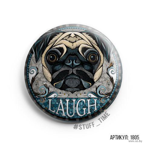 "Значок ""Laugh"" (арт. 1805) — фото, картинка"
