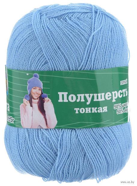 """Пряжа """"Астра. MIX Wool XS"""" (голубая; 100 г; 600 м) — фото, картинка"""