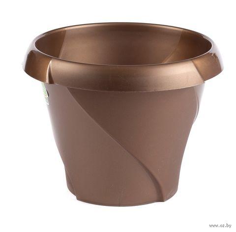 """Цветочный горшок """"Флориана"""" (13,5 см; коричневый) — фото, картинка"""