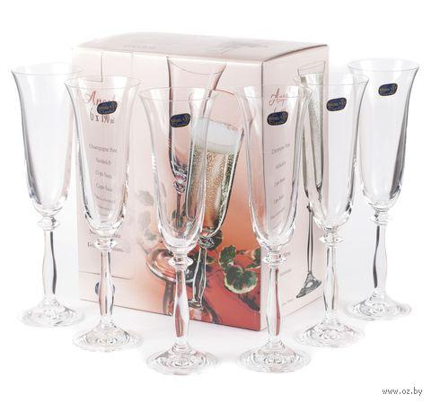 """Бокал для шампанского стеклянный """"Angela"""" (6 шт.; 190 мл; арт. 40600/190) — фото, картинка"""