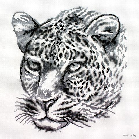 "Вышивка крестом ""Леопард"" (200х215 мм) — фото, картинка"