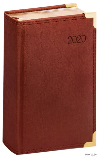 """Ежедневник датированный """"Delucci"""" (А6; коричневый; 2020; арт. DD0_89602) — фото, картинка"""