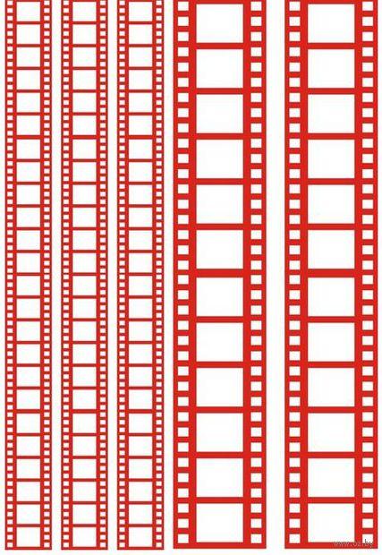 """Пленка-оверлей """"Кинопленка"""" (210х300 мм; красный)"""