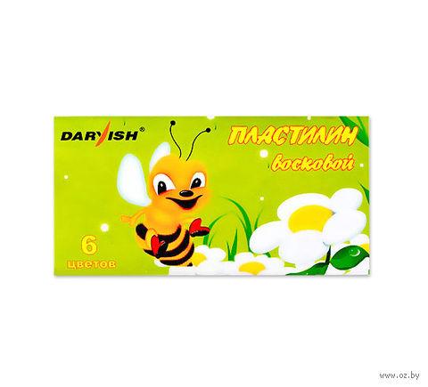 """Пластилин восковой """"Darvish"""" (6 цветов)"""