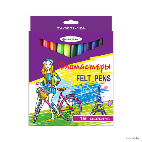 "Фломастеры ""Darvish"" (12 цветов; арт. DV-3601-12A)"