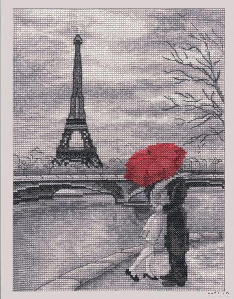 """Вышивка крестом """"Парижская набережная"""" (180x250 мм) — фото, картинка"""