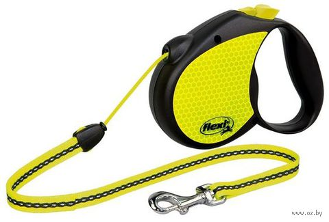 "Поводок-рулетка для собак ""Neon"" со светоотражающими элементами (размер M; до 20 кг)"